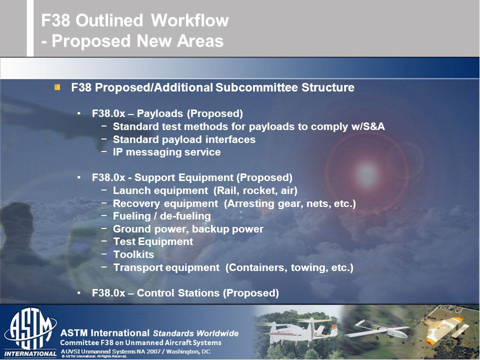 F38 Outlined Workflow - Proposed New Areas