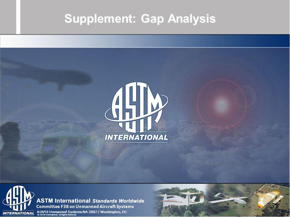 Supplement: Gap Analysis
