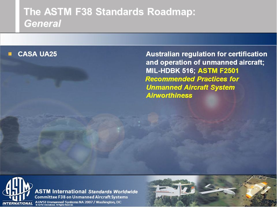 The ASTM F38 Standards Roadmap: General