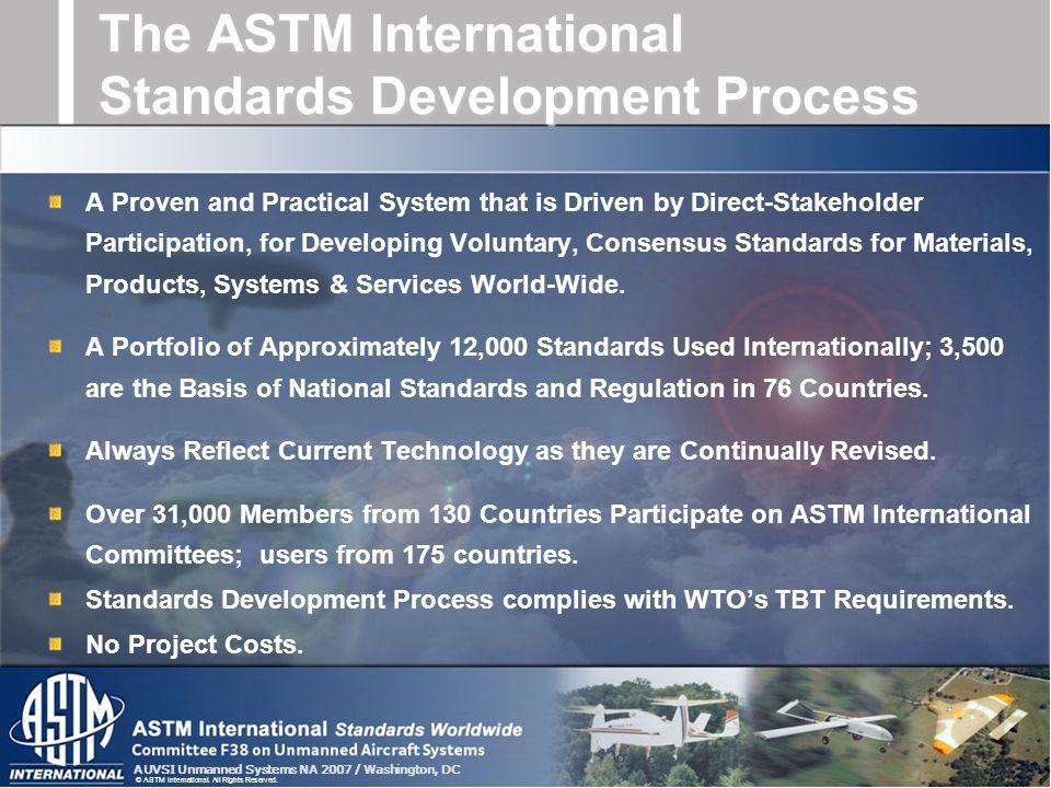 The ASTM International Standards Development Process