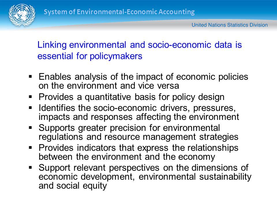 Provides a quantitative basis for policy design
