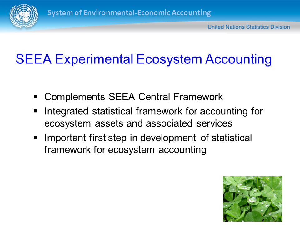 SEEA Experimental Ecosystem Accounting
