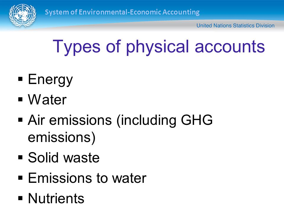 Types of physical accounts