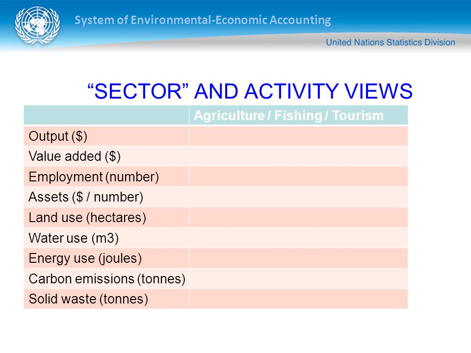 SECTOR AND ACTIVITY VIEWS