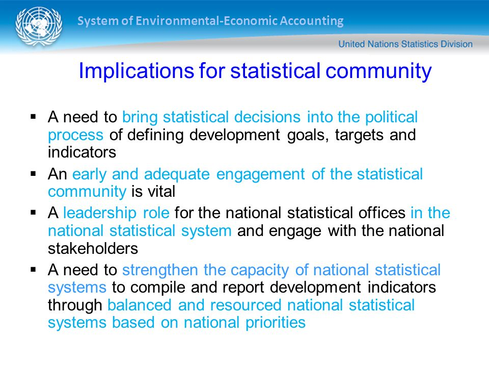 Implications for statistical community