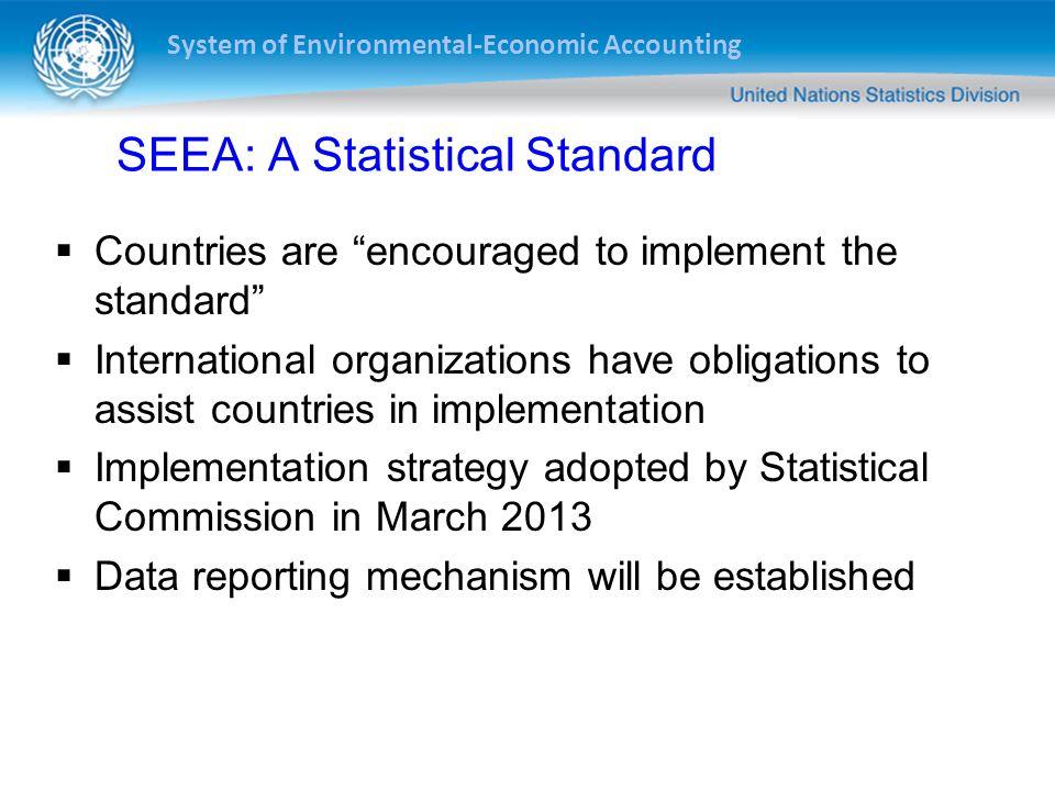 SEEA: A Statistical Standard