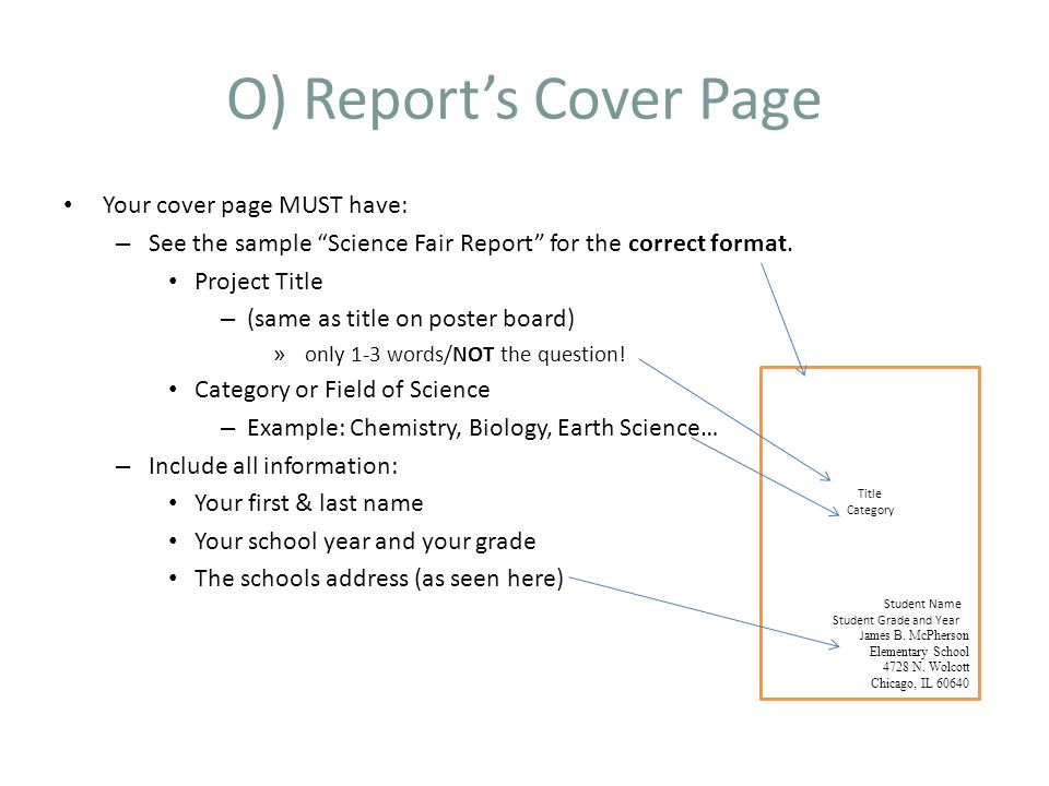 Science Project Report. Student Projects – From Start To Finish