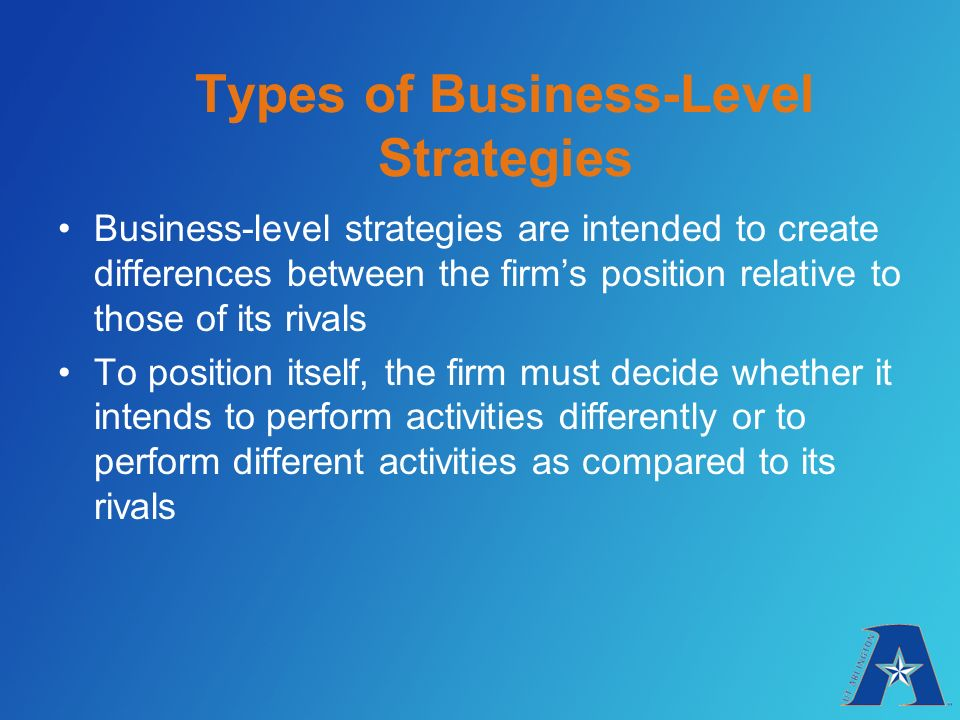 business level strategies Business level strategies of apple 1397 words | 6 pages the corporation picked for this paper is apple the business level strategies that apple applies are all relying on the same important concept: innovation.
