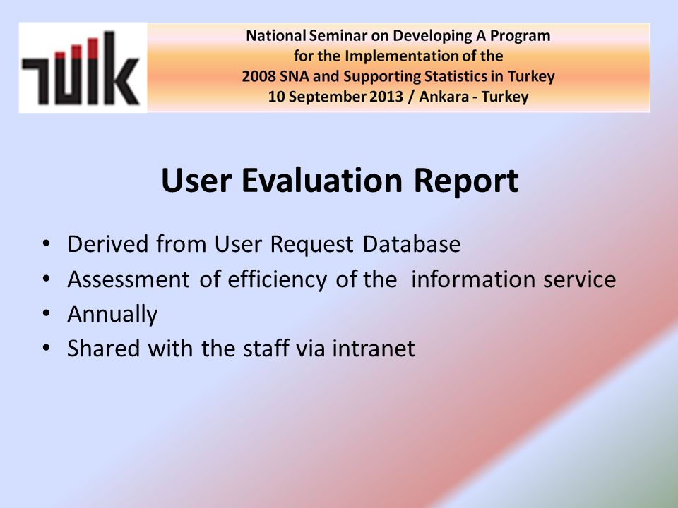 User Evaluation Report