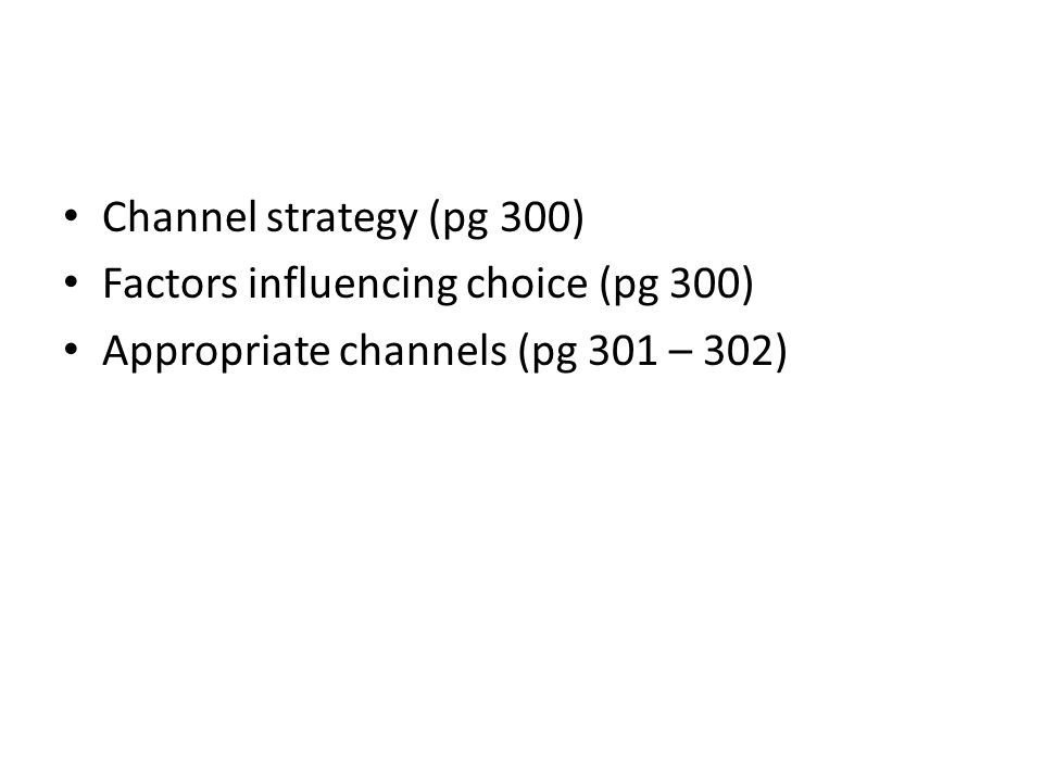 factors that influence a choice of distribution channels Of hypotheses regarding factors that influence distribution channel choices   distribution channel choice =/(winery characteristics, marketing efforts, level.