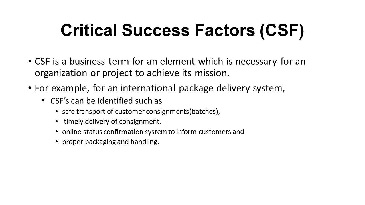 Critical Success Factors Csf Ppt Video Online Download