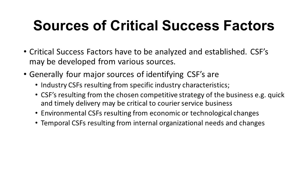 music industry critical success factors