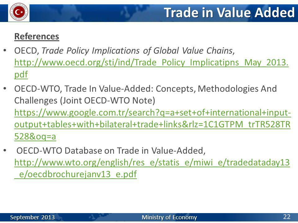 Trade in Value Added References
