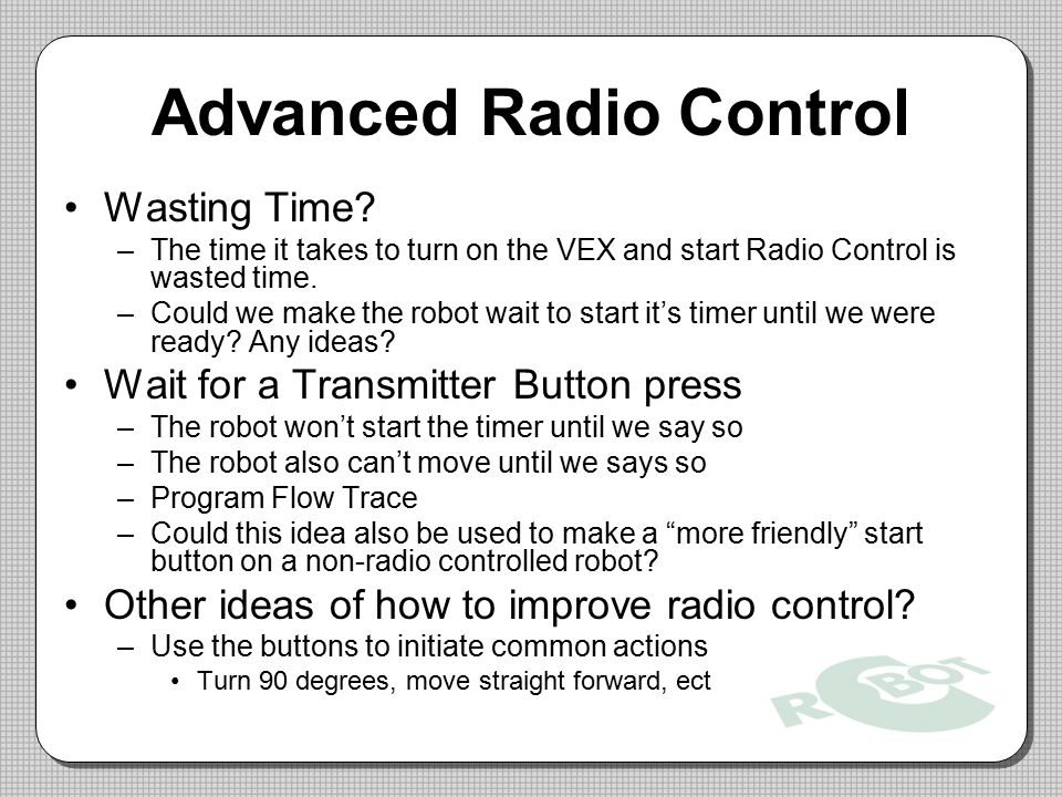 Advanced Radio Control