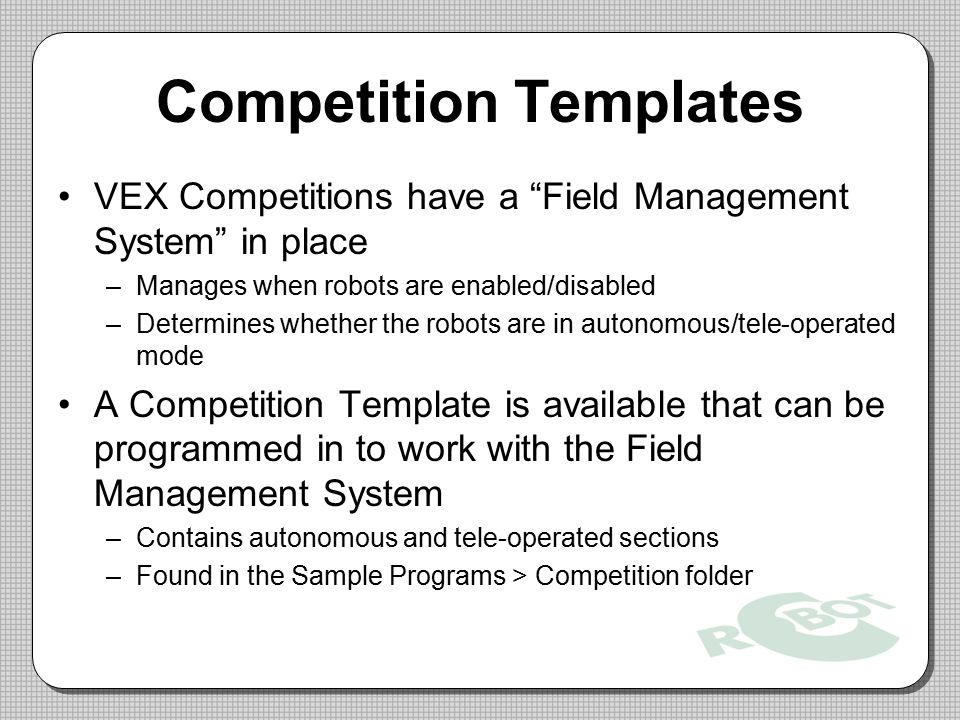 Competition Templates