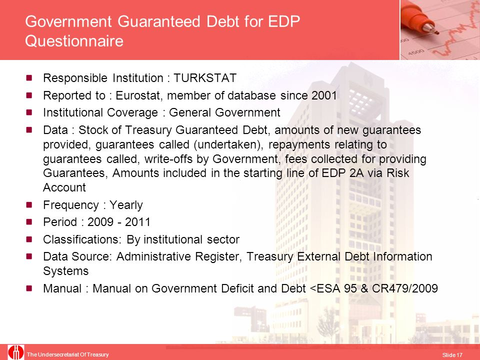 Government Guaranteed Debt for EDP Questionnaire