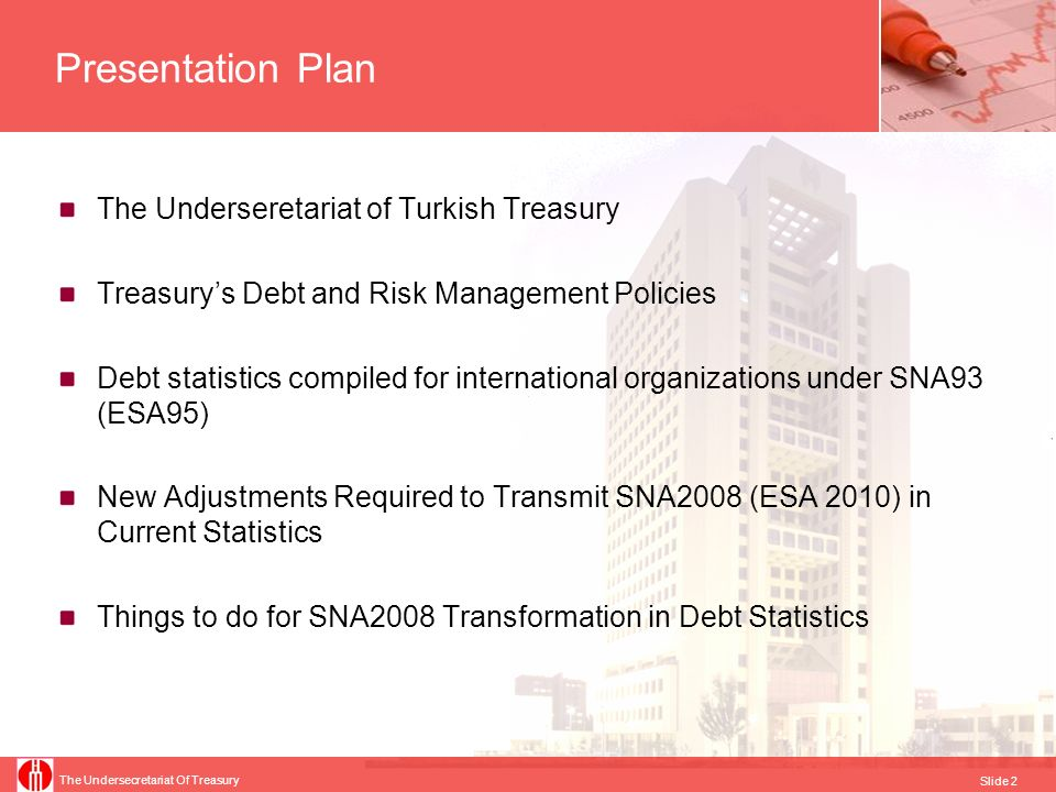 Presentation Plan The Underseretariat of Turkish Treasury