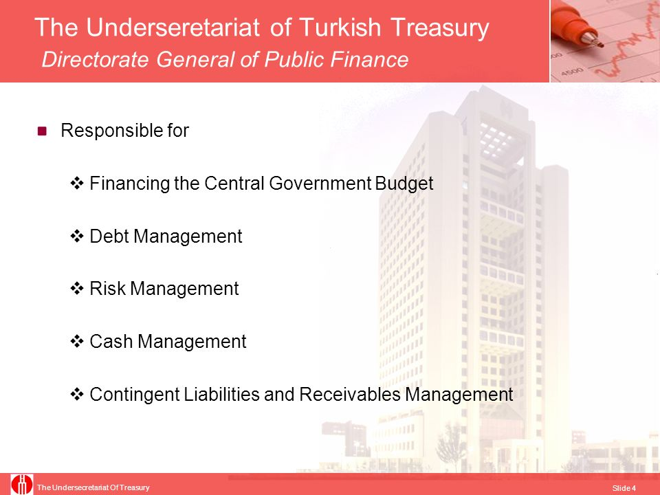 The Underseretariat of Turkish Treasury Directorate General of Public Finance