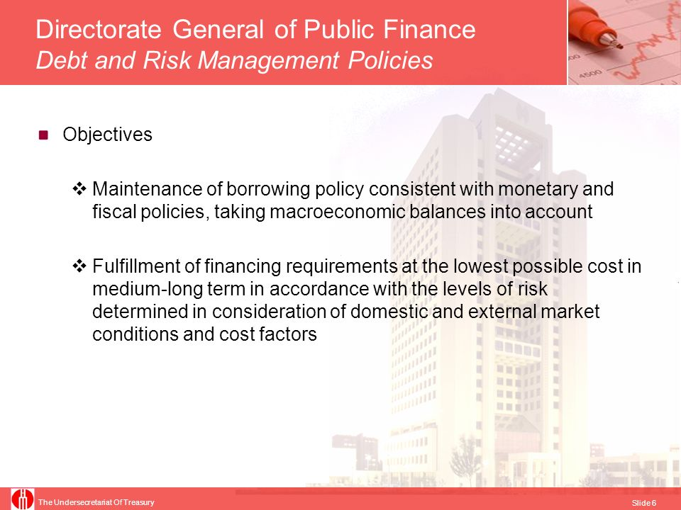 Directorate General of Public Finance Debt and Risk Management Policies