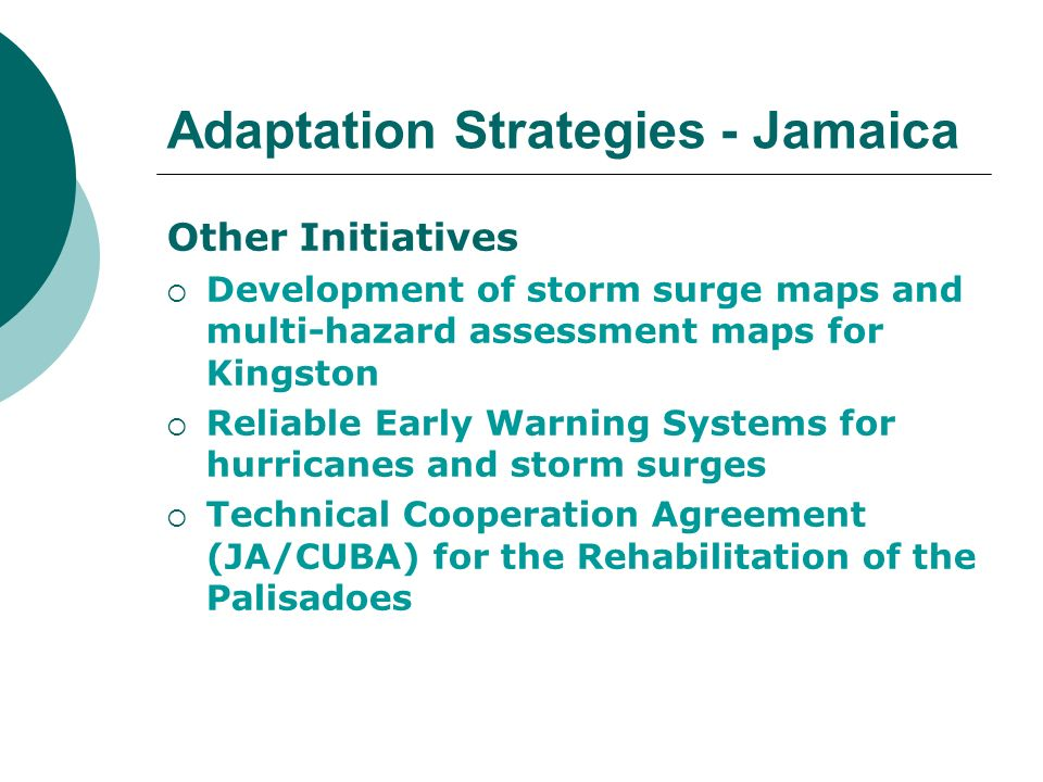 Adaptation Strategies - Jamaica