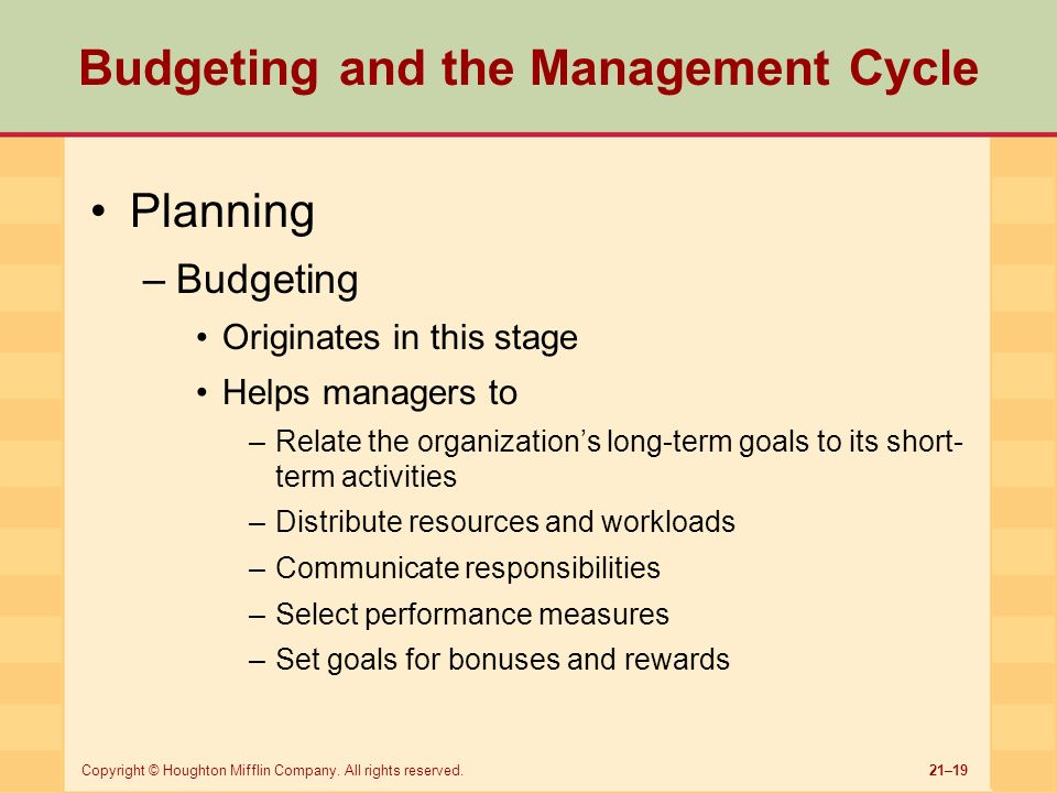 budgeting is a key management short Good financial management is key to any successful sports program  the  major difference between short-term and long-term budgeting is relatively simple.