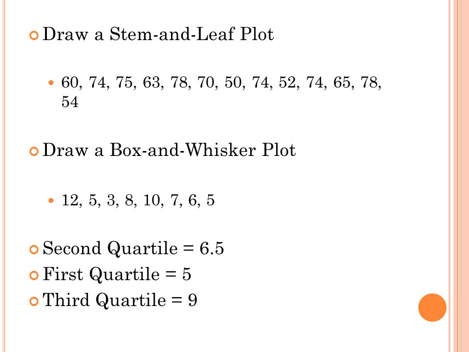how to draw stem and leaf plot