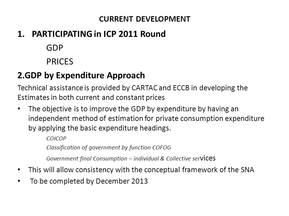 PARTICIPATING in ICP 2011 Round GDP PRICES