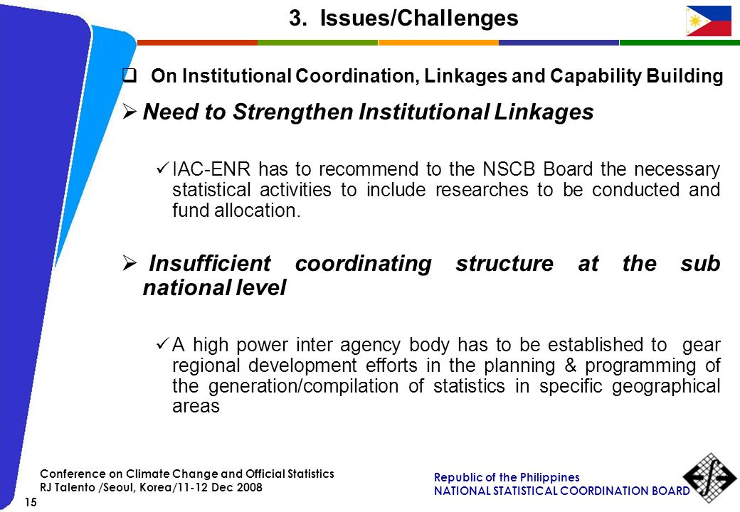 Need to Strengthen Institutional Linkages