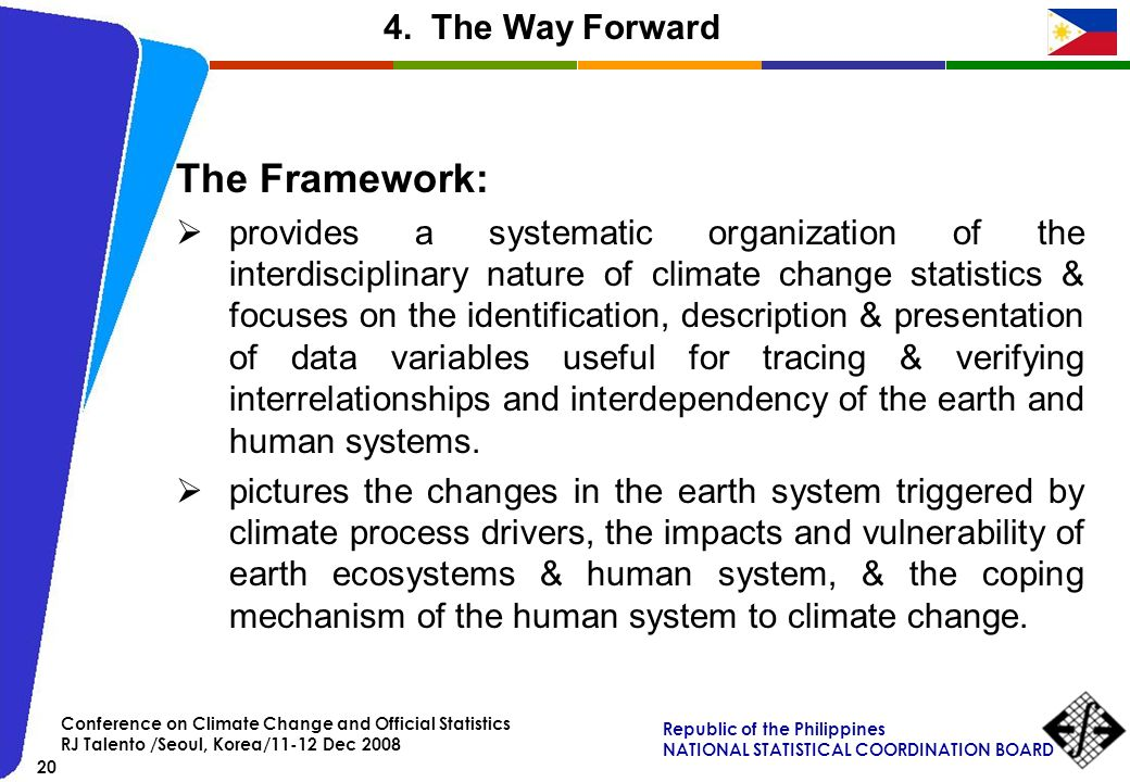 The Framework: 4. The Way Forward
