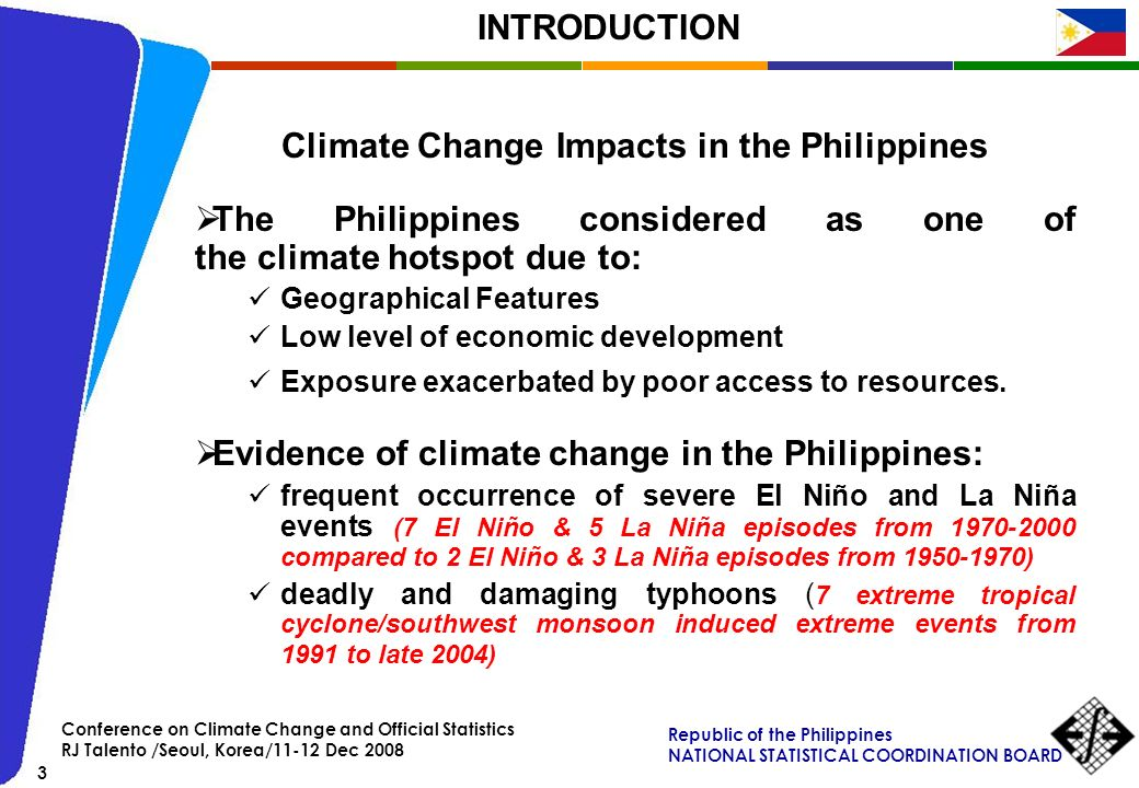 Climate Change Impacts in the Philippines