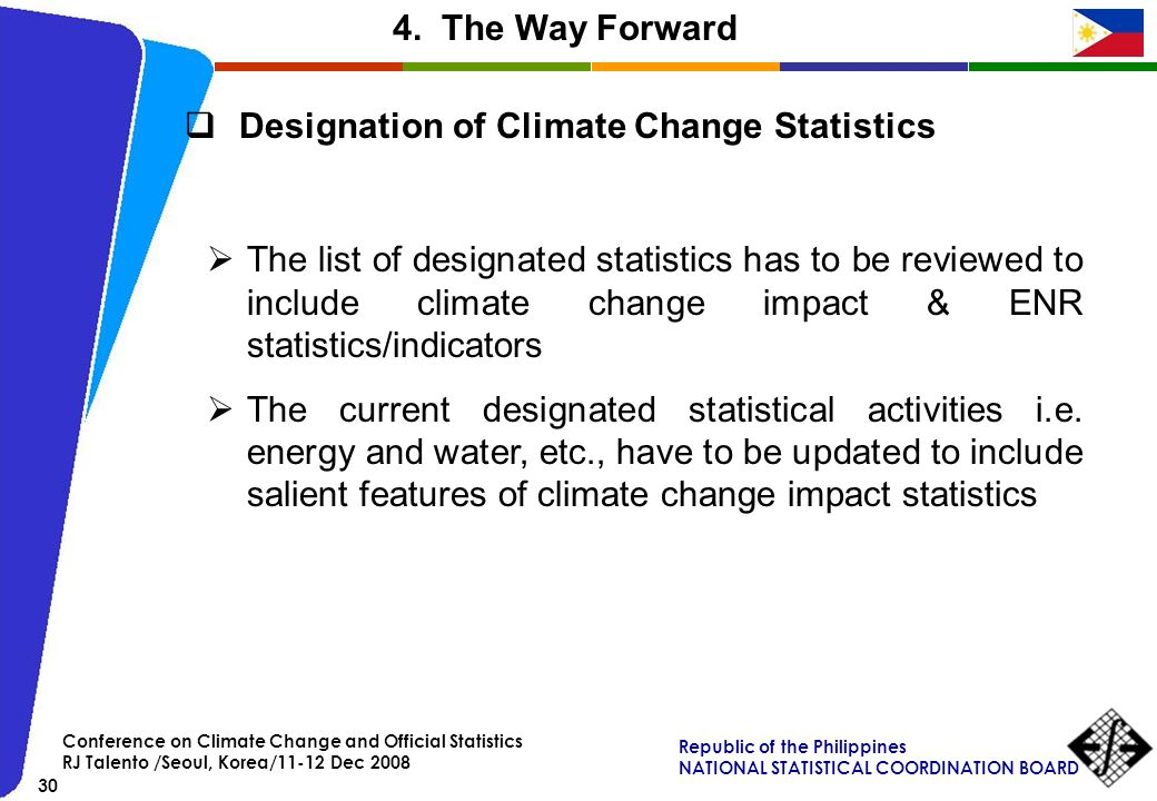 Designation of Climate Change Statistics