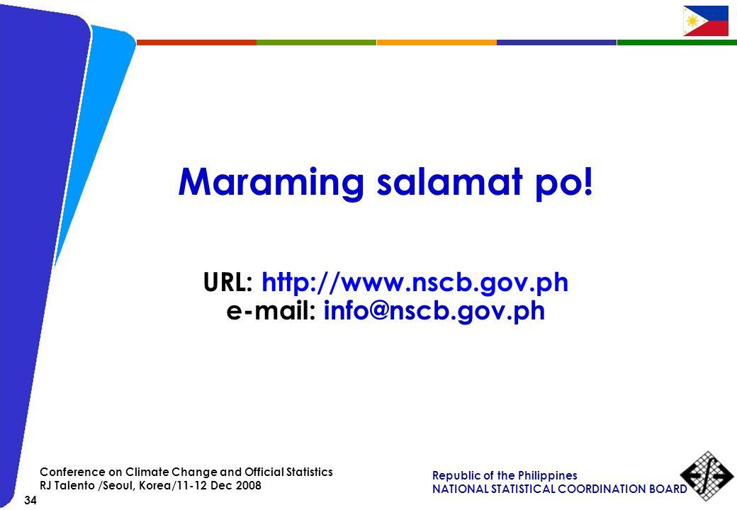 URL: http://www.nscb.gov.ph e-mail: info@nscb.gov.ph