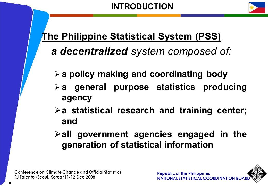 The Philippine Statistical System (PSS)