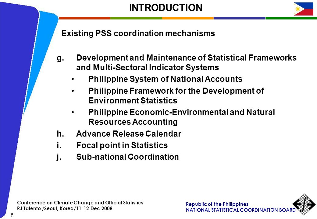 Existing PSS coordination mechanisms