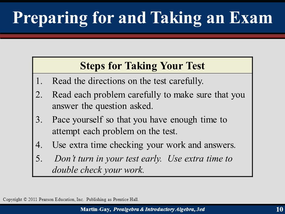 preparing for and taking exams Throughout my own college career i have tackled exams using every tactic in the  book—from taking the exam cold turkey (not the most successful approach),.
