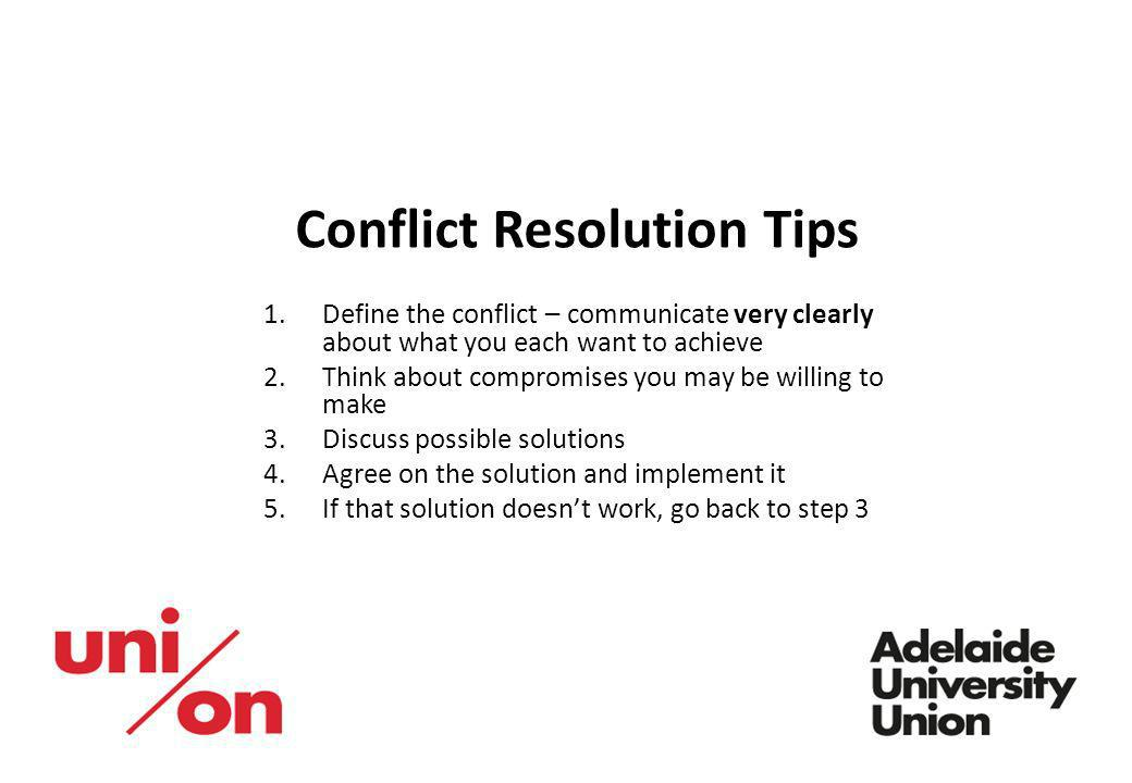 Conflict Resolution Tips