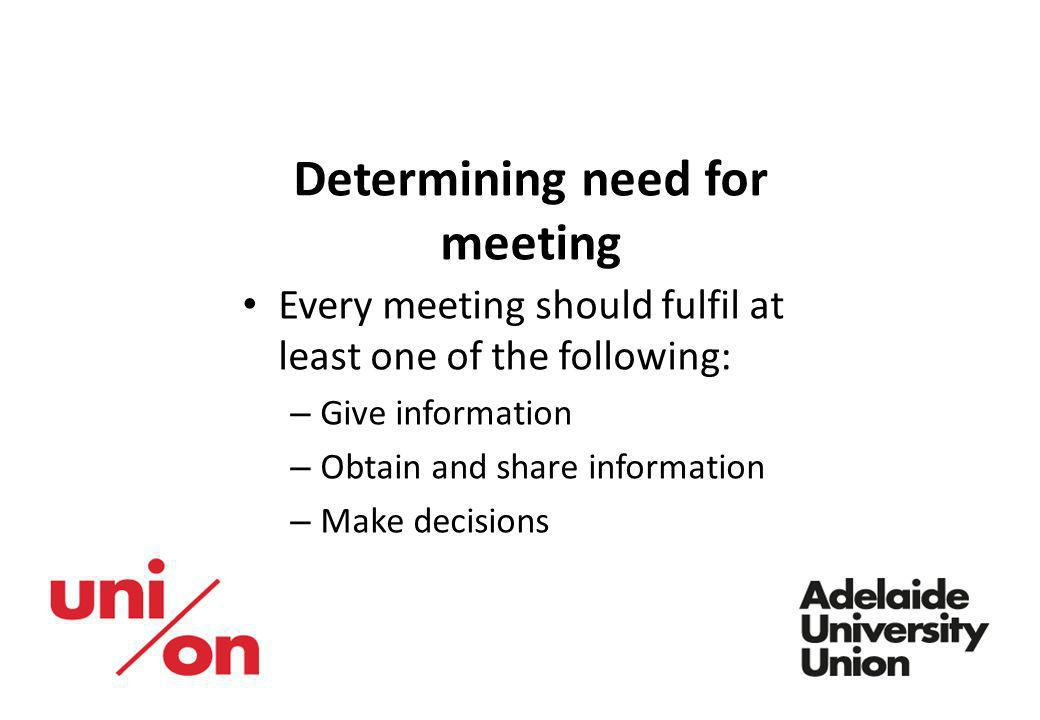 Determining need for meeting
