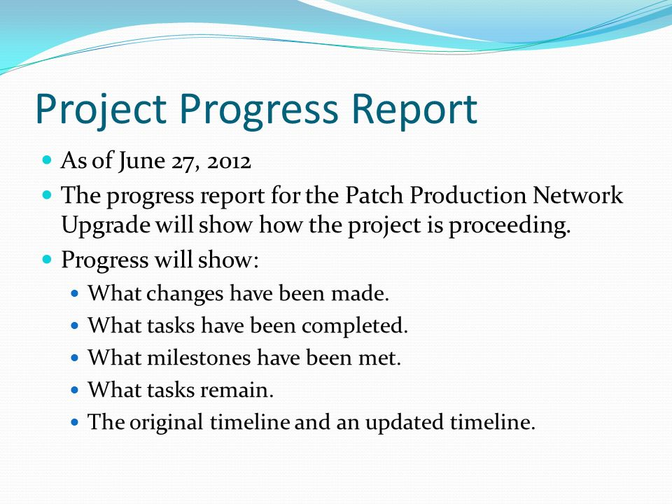Unit 7 Assignment Project Progress Report Charles W. Jansen, Ii