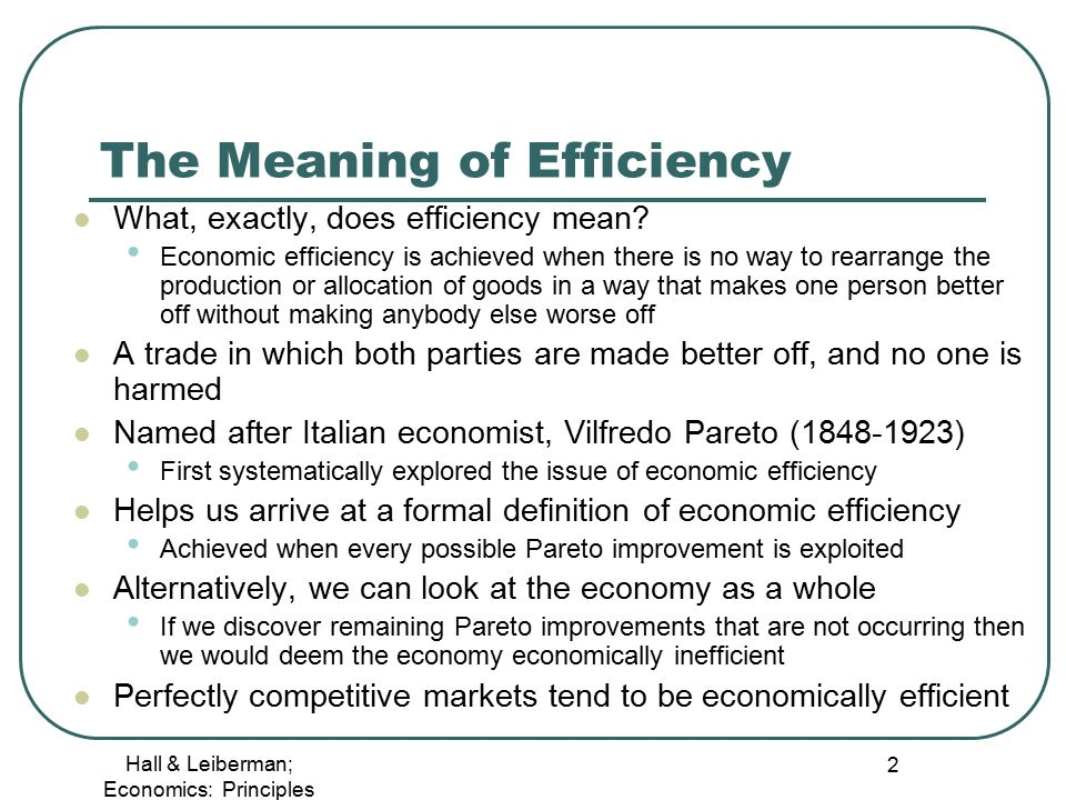 Chapter 14: Economic Efficiency and the Role of Government ...