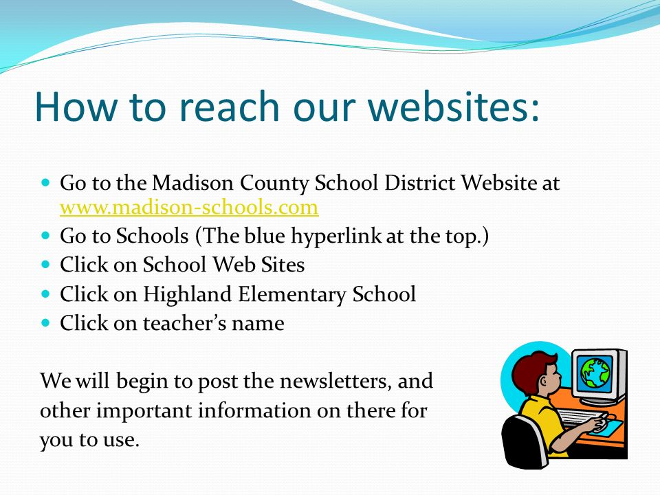 How to reach our websites: