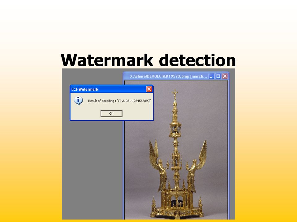 Watermark detection