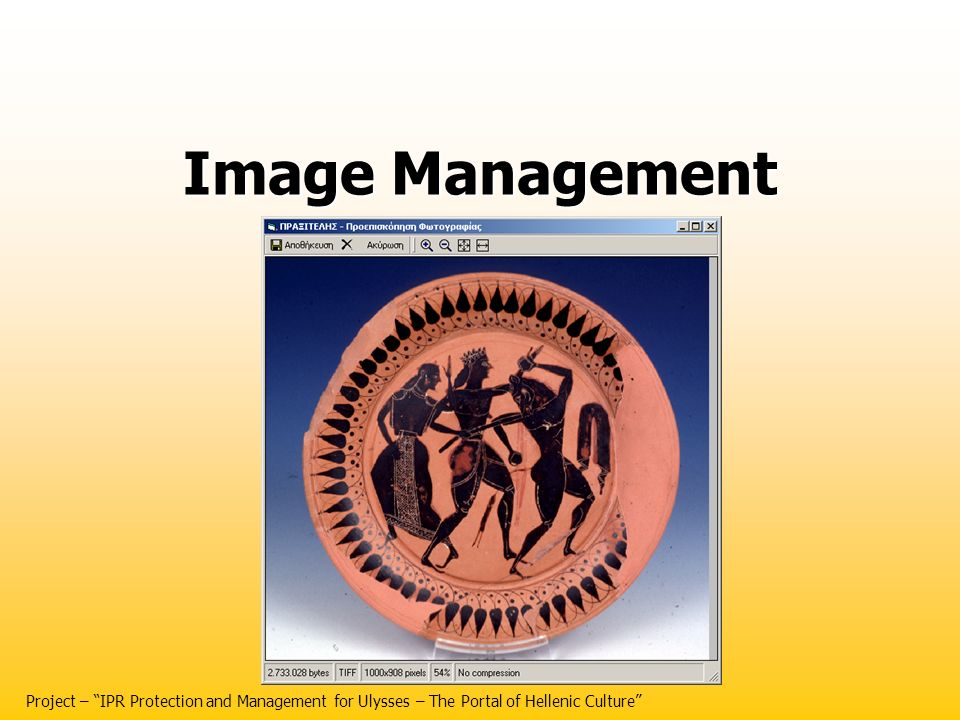 Image Management Project – IPR Protection and Management for Ulysses – The Portal of Hellenic Culture