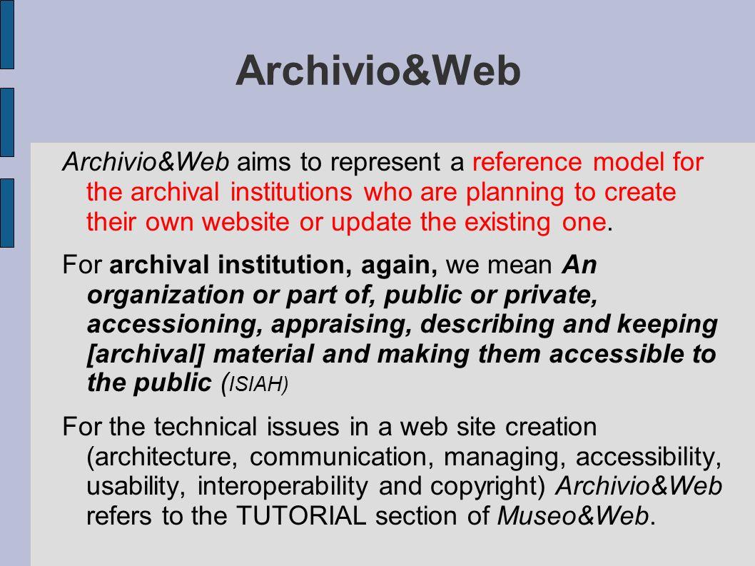 Archivio&Web