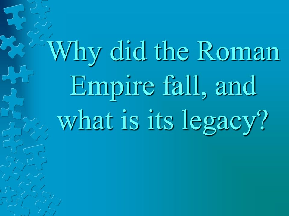 why and how did the roman Why did the roman economy decline i want to reflect on one leading account for the economic decline of europe following the collapse of the western roman empire i recently encountered an explanation of this decline that strikes me as deeply problematic.