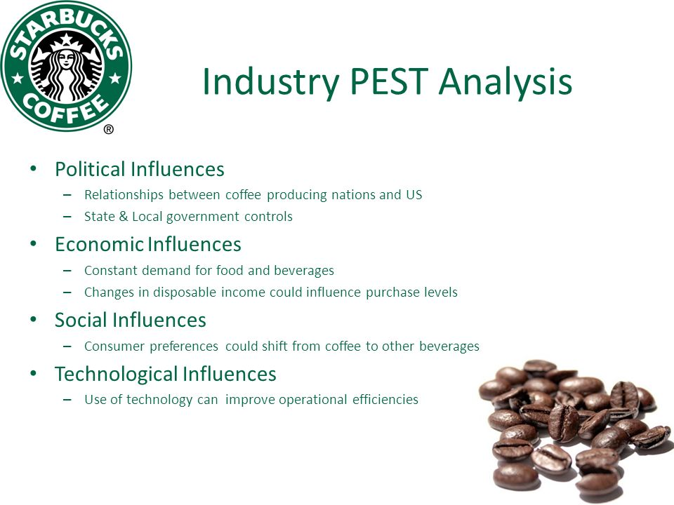 pest analysis of costa coffee Factors of coffee shop market growth21 pest analysis22 costa coffee shop company analysis wwwcostacouk) costa coffee was first poured on our shores.