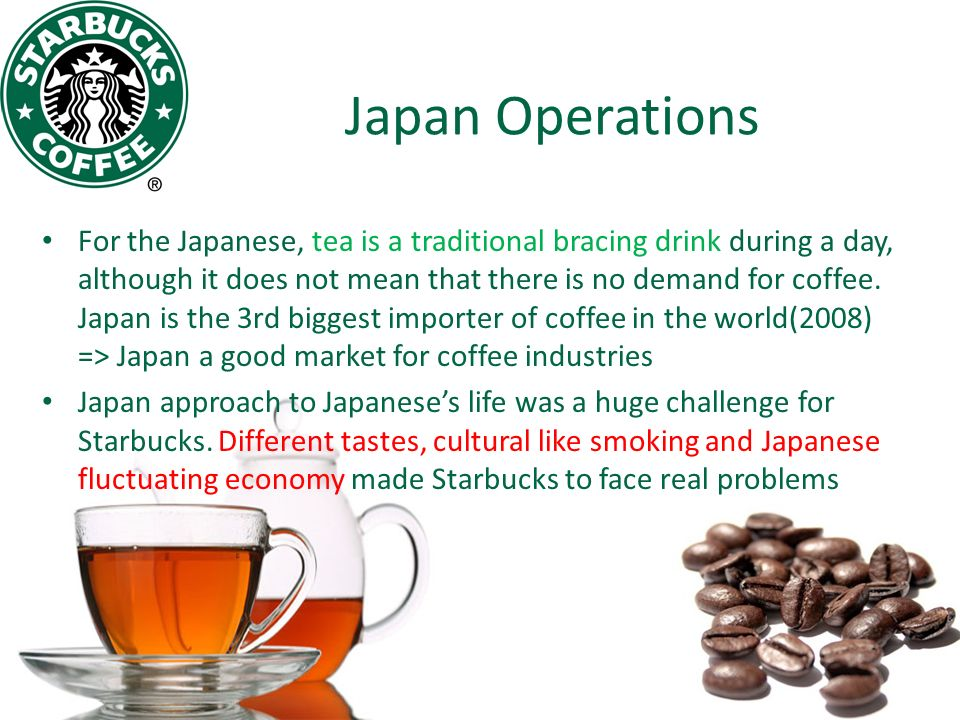 solutions to problems with starbucks international operation The operational problem area for starbucks marketing essay print reference this   the operational problem area for starbucks is technology it has been observed that technology has.