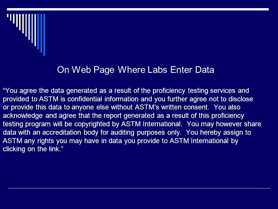 On Web Page Where Labs Enter Data