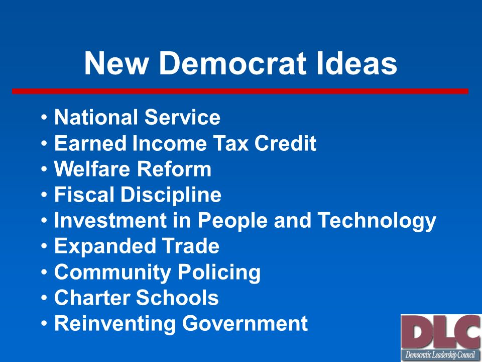 New Democrat Ideas National Service Earned Income Tax Credit