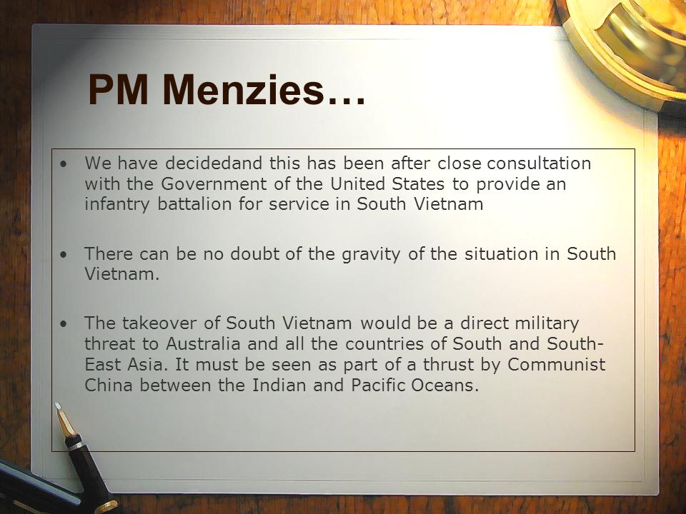 PM Menzies…