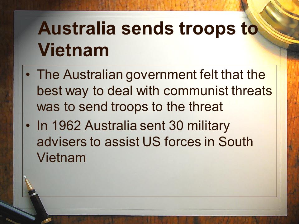 Australia sends troops to Vietnam
